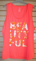 NEW WOMENS PLUS SIZE 4X NEON GLOW ORANGE BEAUTIFUL INSPIRATIONAL TANK TO... - $16.44