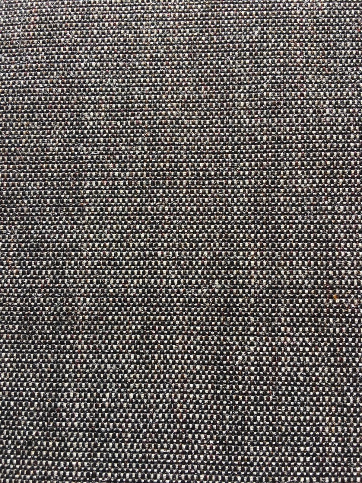 1.75 yds Maharam Upholstery Fabric Canvas Mid Century Gray Wool 466185 HE