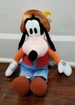 Disney Parks Gone Fishin' Goofy Plush 21'' Stuffed Animal Doll Toy - $5.56