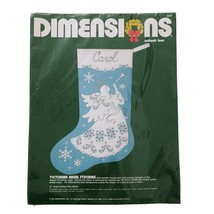 Vtg 1984 Dimensions VICTORIAN ANGEL Christmas Stocking Kit Cutlook Lace ... - $9.74