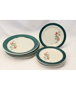 Home Holly Xmas Dinner and Salad Plates Lot of 8 - $58.79