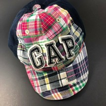 Baby GAP Plaid Boys Baseball Cap Hat Kids Logo  M/L Cotton  - $19.73