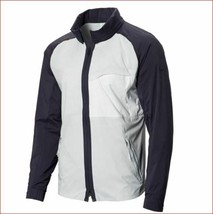new NIKE Shield men jacket AJ5444-043 standard fit packable sz S navy white - $43.53