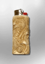 Bone Carved Handmade Eagle Head with Feathers Large Bic No Paint Detaile... - $59.99