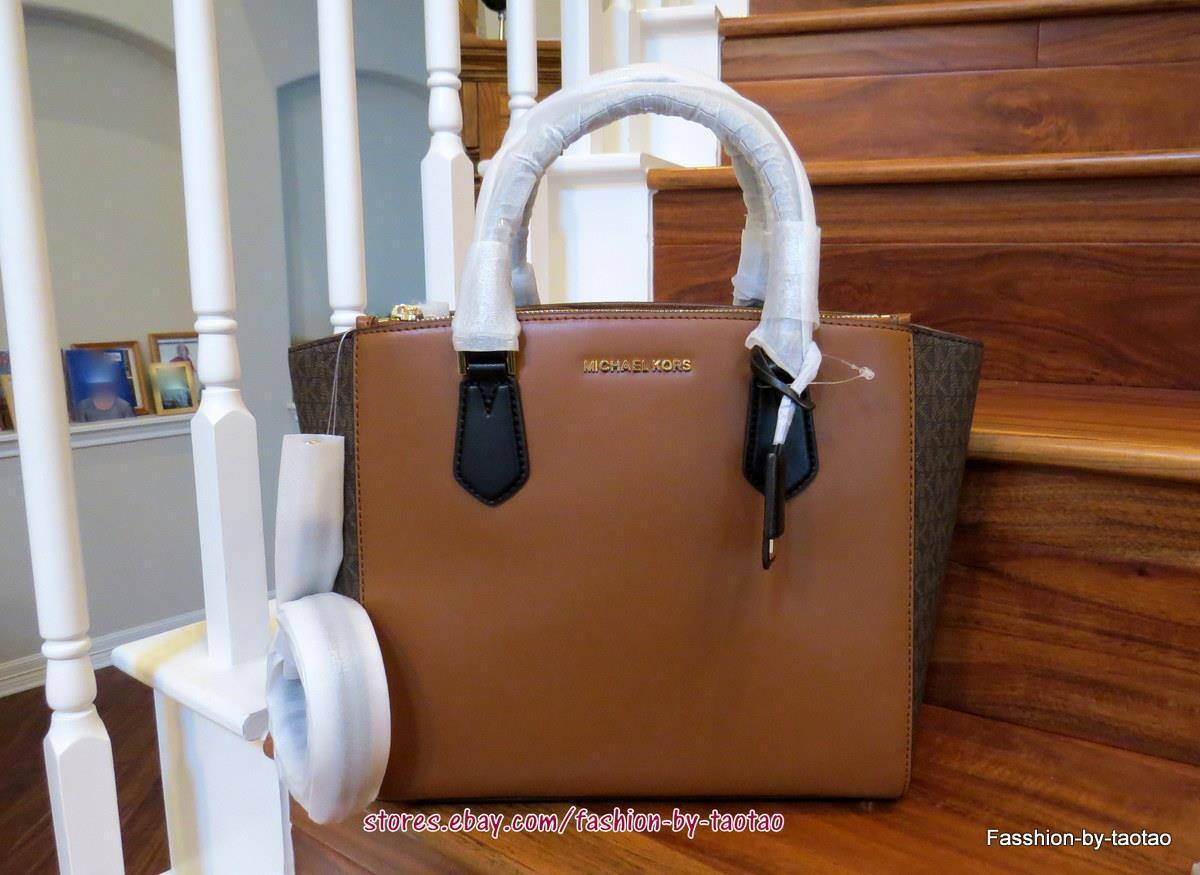754d17d5816ae5 NWT Michael Kors CAROLYN Leather/Signature and 50 similar items. S l1600