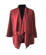 Linea by Louis Dell' Olio SIZE MEDIUM OPEN CARDIGAN FLYAWAY RED POLYESTER - $22.30