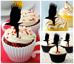 Decorations Wedding,Birthday Cupcake topper,silhouette eagles Package : ... - $10.00