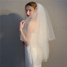 Ivory or White Tulle Wedding Veils 2 layers 4 meters - $19.90
