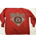 Vtg Ohio State Buckeyes Crewneck Sweatshirt XL * University OSU Red 90s - $22.33
