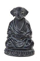 PTC 6 Inch Meditation Dog Relaxed Buddhist Resin Statue Figurine - $18.80