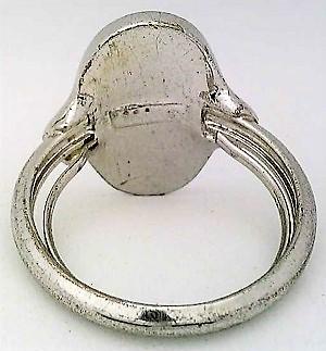 Paua Shell Silver Plate Avon Ring Sz 7.5