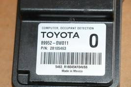 Lexus Toyota  Occuppant Detection Sensor Module Computer 89952-0w011 image 1