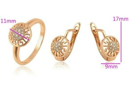 Medical gold Rose jeweleryset ( ring available sizes 9.10 )Xuping Wedding - $7.19