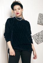 Velvety knit jumper - 90s vintage sweater - $40.93
