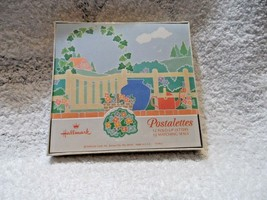 Hallmark box of 12 Postalettes fold up letters and seals with Garden design - $6.95
