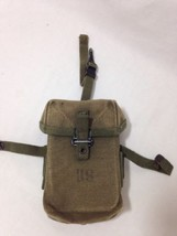 ORIGINAL US ARMY M1956 / M56 SMALL ARMS CANVAS AMMO MAGAZINE MAG POUCH M... - $22.76