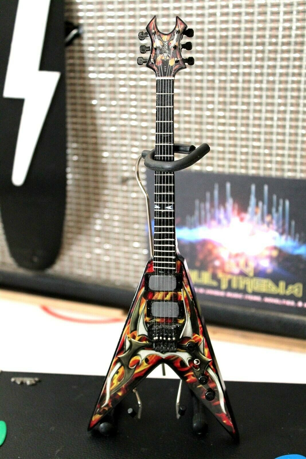 Primary image for KERRY KING (Slayer) BC Rich Signature V G2 Custom 1:4 Scale Replica Guitar ~New