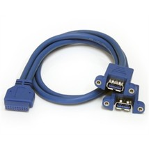 StarTech Cable USB3SPNLAFHD 2Port Panel Mount USB 3.0 Retail - $32.00