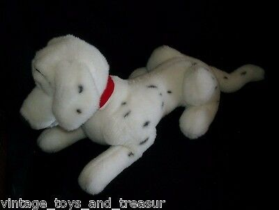 "19"" VINTAGE DISNEY 101 DALMATIANS DOG STUFFED ANIMAL PLUSH TOY RED COLLAR PERDY"