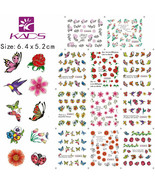 Nail Art Water Transfer Sticker Flowers Butterfly Decals Tips Decoration... - $2.60