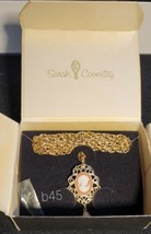 SARAH COVENTRY CAMEO PEARL NECKLACE / BROOCH  NOS b45 - $12.36