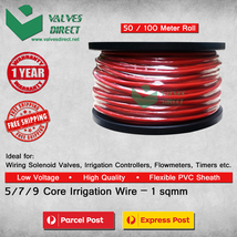 5 / 7 / 9 core / Multi core Irrigation wire/cable 1 sqmm - 50 /100 meter... - $96.88+