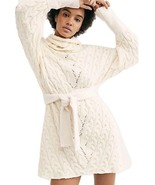 Free People For The Love Of Cables Sweater Dress Large - $108.89