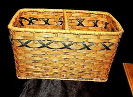 Tender Heart Treasures Woven Handmade Basket AA18-1359 Vintage 1995 image 7