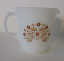 Vintage Corning Summer Impression Creamer Ginger Brown Flowers on White ... - $4.90
