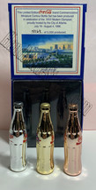 Coke Atlanta 1996 Olympics Games Gold/Silver/Bronze Mini Miniature Coca-cola bot image 5