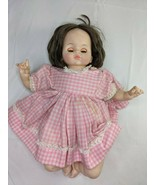 """Madame Alexander Doll 1965 13"""" Pink Dress Non-working Crier Cry Baby - $24.95"""