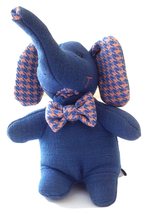 Handmade Elephant Toy in Cotton, Size:17x13x7 cm - $59.00