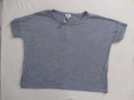 Old Navy Women Top L Gray Solid Loose Casual Polyester Rayon 1892 - $8.80