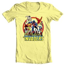 The Invaders T Shirt 1970s vintage WWII  Marvel Comics Union Jack graphic tee YL image 1