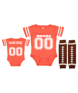 Personalized Chicago  Bears Jersey Uniform Onesie Choose Name And Number - $27.95+