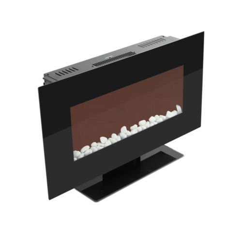 "WOLFIRE® 35"" Wall Mount Electric Fireplace Adjustable Heater Standing w/Tempered"