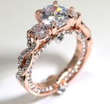 Three Stone CZ Twist Engagement Ring/Promise Ring #981 - $10.24