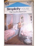 105 Vintage Simplicity Sewing Pattern Home Decoration Country Bedroom Sh... - $4.80