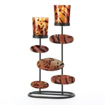 Metal Candle Holder, Decorative Wrought Iron Candle Holders Colored Set - $23.99