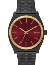 Nixon Men's Time Teller Watch Matte Black/Gold Burgundy - $99.95