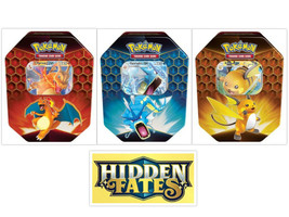 Pokemon Hidden Fates Pin Collection Boxes and Tins Bundle Mew Mewtwo Charizard image 2