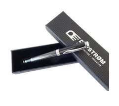 Carbon Fiber Ballpoint Pen in Gift Box - Smooth Black Ink Rollerball Wri... - $11.05