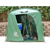 Storage Shed Tent Portable Versatile 74 x 32 Vinyl Tarpaulin Green Outdo... - $156.06