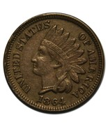 1864 CN Copper Nickel One Cent Indian Head Penn... - ₨5,782.25 INR