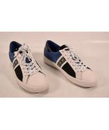 Michael Kors Womens' Keaton Stripe Sneaker Canvas Blue Black White 7 M - $74.25