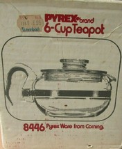 Vintage Pyrex Stove Top Glass 6 CUP TEAPOT NEW IN THE BOX 8446 - $128.69