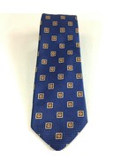 Holland And Sherry  Mens Blue Geometric 100% Silk Luxury Tie Made in USA - $27.09