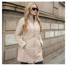 Ladies Long Quilted Jacket Outerwear Winter Coat  Medium image 2