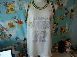 Vintage 90's Utah Jazz Karl Malone Champion NBA Jersey 44 L  - $87.12