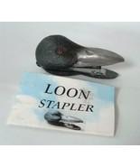Vintage C A Daniels Co Loon Head Stapler Figural Cold Paint On Cast Pewt... - $29.69